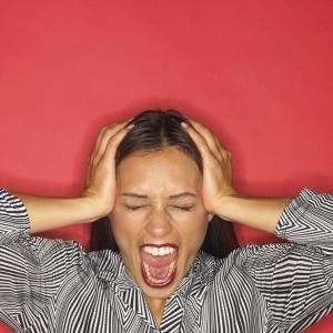anger woman scream